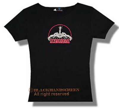 The Scorpions (Logo) Lady Girlie T-Shirt M