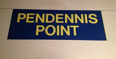 "Cornwall Bus Blind ( Cornish ) Blue 31"" - Pendennis Point"