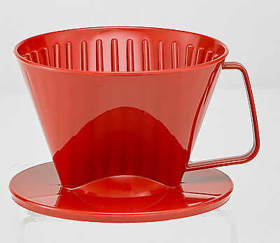 HIC Coffee Filter Cone, Red, Number 1-Size, Brews 1 to 2-Cups (2661/RED)