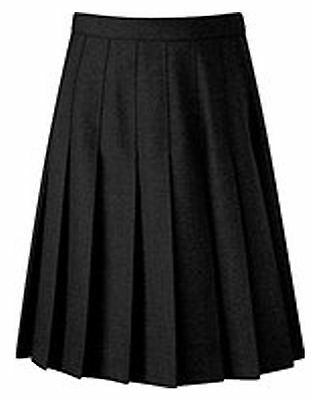 Long New Womens Ladies All Round Knife Pleated Long School Girls Skirt