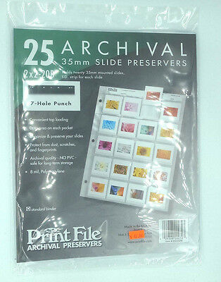 Print File 35mm Slide Preservers 2x2-20B (25 pages)