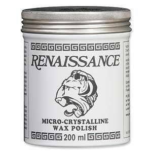 Renaissance Wax Polish Protect Jewelry Crafts Antiques Wood Metal 7 Ounce Can