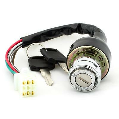 Universal 6 Wire Motorcycle Ignition Switch 3 Position Scooter Quad Bike Go-Kart