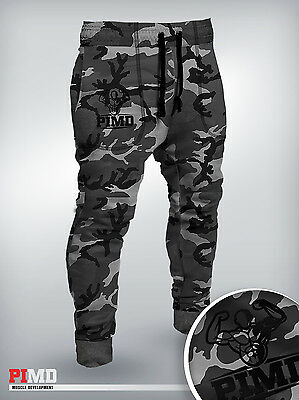 PIMD Urban Camouflage Fitted Jogging Bottom Running Fitness Joggers Gym Camo