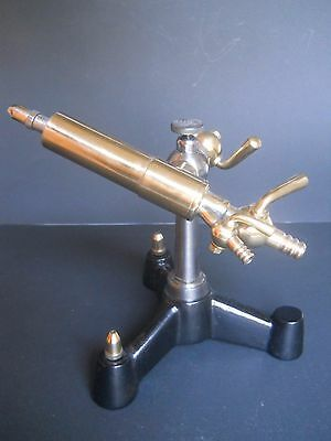 antique bronze laboratory tool Brenner - scientific instrument