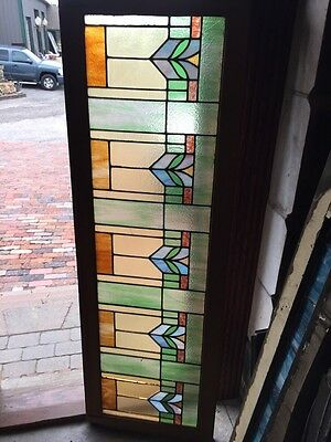 Sg 831 Antique Arts And Crafts Stainglass Window