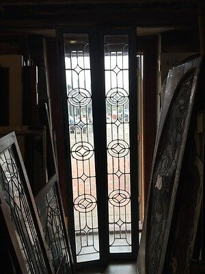Sg 832 Two Available Priced Separate Antique Beveled Glass Transom Window