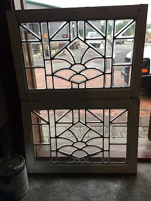 Sg 843 Two Available Price Separate Antique Beveled Glass Window