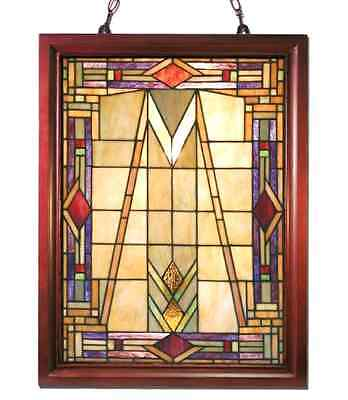 Stained Glass Panel for Window Suncatchers Decorations Mission Victorian