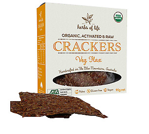 Herbs of Life Veg Flax Crackers 90g
