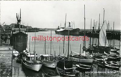 Real Photographic Postcard Of The South Harbour, Blyth, Northumberland