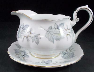 Royal Albert SILVER MAPLE Gravy Boat with Underplate GREAT CONDITION