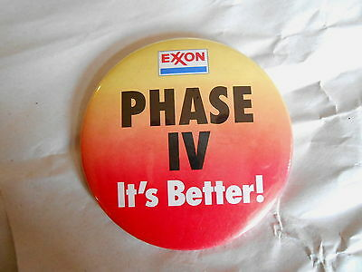 Vintage Exxon Phase IV Gasoline It's Better Advertising Pinback Button