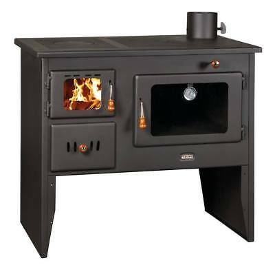 Wood Burning Stove Cast Iron Top Log Burner Cooking Oven Solid Fuel Prity 10kw
