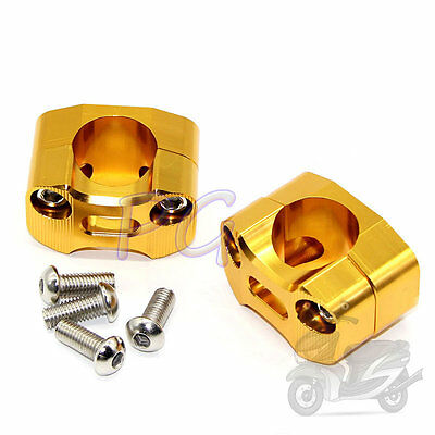 "Gold CNC Taper Handle Bar Clamps Taper 7/8"" to 1 1/8"" handlebar Pit Bike Motor"