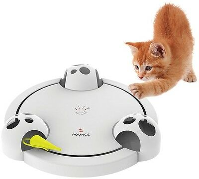 FroliCat POUNCE Rotating Cat Toy Little Yellow Marshal Real Movement Mouse Hunt