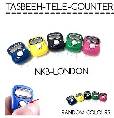 3X Finger Ring Electronic Digital Tasbeeh Tasbih Tally Counter Beads Islam Timer