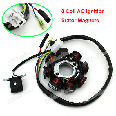 8 Coil AC Ignition Stator Pole Magneto For GY6 50cc Moped ATV Go Kart Scooter