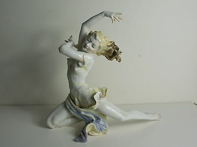 Hutschenreuther Selb Karl Tutter Colored Art Deco 'The Finale' Dancer Figurine
