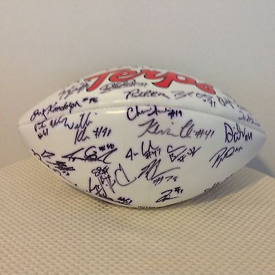 Maryland Terrapins Team Autographed Signed Logo Football