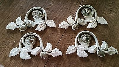 Vintage Cast Iron Decorative Architectural Hardware Ornate Rose Design Shabby