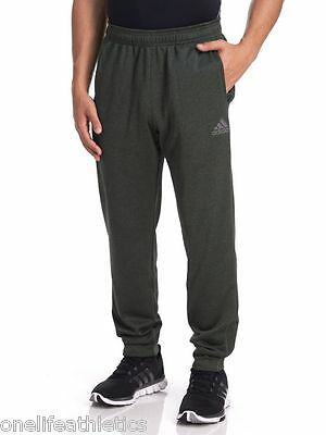 Adidas Men's Ultimate Fleece Tapered sweat Pants - Base Green work out exercise