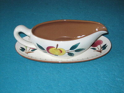 STANGL FRUIT Gravy Boat & Saucer ~ Excellent Condition