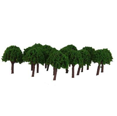 50pcs 3cm Garden Park Scenery Landscape Train Model Trees Green Scale 1/500