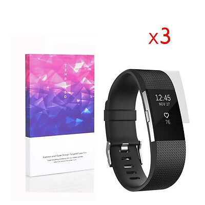 High Definition Ultra Clear Film Screen Protector for Fitbit Charge 2 (3 Packs)