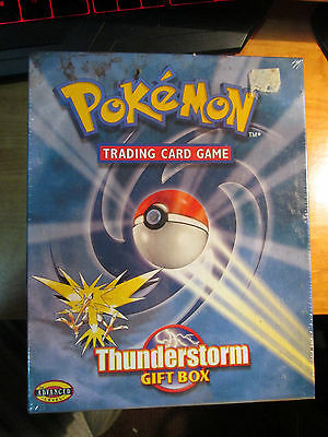Sealed COMPLETE Promo THUNDERSTORM GIFT BOX Pokemon Card Theme Deck+Booster Pack