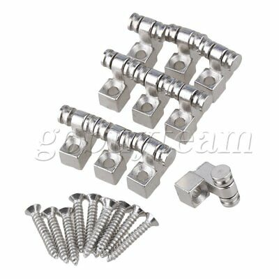10Pieces Guitar String Tree Retainer Roller Design Chrome