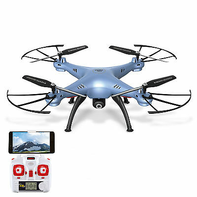 Syma X5HW Wifi FPV RC Quadcopter Drone with HD Camera Hover Function Blue