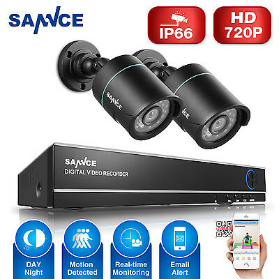 Sannce 4CH HDMI DVR HD Outdoor Megapix Night Vision CCTV Security Camera System