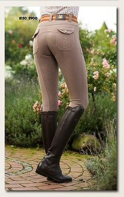 Breeches Cargo silicone full seat- Golden Gate (8150) - by HKM - RRP $249.95
