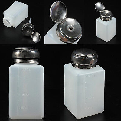 200ML Empty Pump Dispenser For Nail Art Polish Acrylic Liquid Bottle