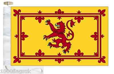 Scotland Lion Rampant Courtesy Boat Flag (Roped & Toggled)