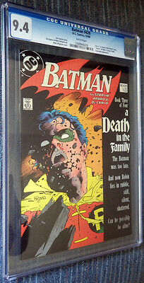 Batman #428 CGC 9.4 White pages  - A Death in the Family! Part 3 of 4
