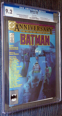 Batman #400 CGC 9.2 White pages  - Sienkiewicz cover! Stephen King intro!