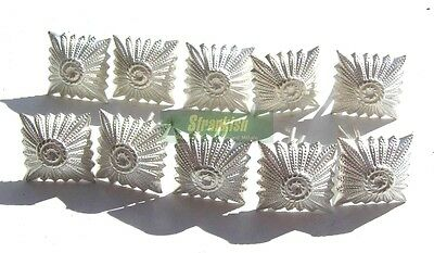 SET OF 10 x EAST GERMAN ARMY OFFICERS RANK PIPS SILVER
