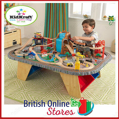 KidKraft Waterfall Junction Train Set & Table  Perfect Christmas Gift For Kids