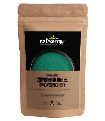 Nutrenergy Organic Spirulina Powder | Health | Nutrition | Free Tracked Delivery
