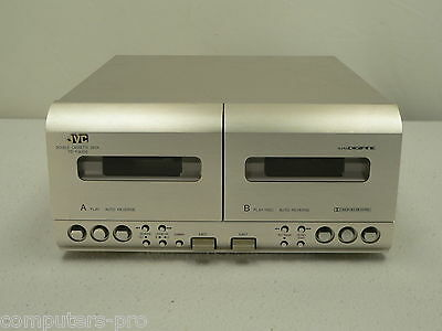 JVC  TD-F3000  DOUBLE Cassette Deck    SUPER DIGIFINE  TESTED WORKING