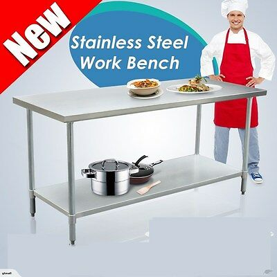 New Commercial  Long Bench Stainless Steel Pot Rack 1.8m