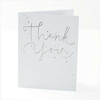 Pack Of 10 Thank You Cards With Envelopes Foil Finish New Gift