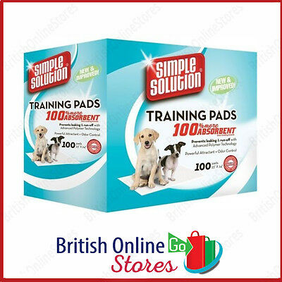 Puppy Dog Toilet Training Pads Absorbent Simple Solution 100 Pad Pack Hygiene