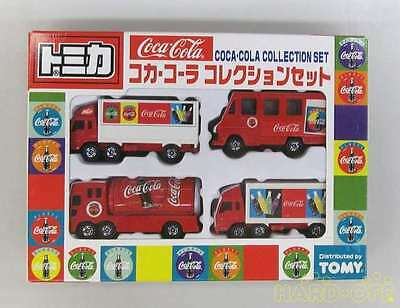 Tomica Coca Cola Collection Truck Diecast Car Gift Set of 4 Tomy RARE