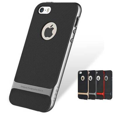 ROCK Royce Ultraslim Hybrid Shockproof Case Cover Bumper for iPhone SE, 5S, 5