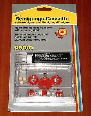 AUDIO HEAD AUTOCLEANING CASSETTE w/ CLEANING FLUID Tape Deck Player ACCESSORIES