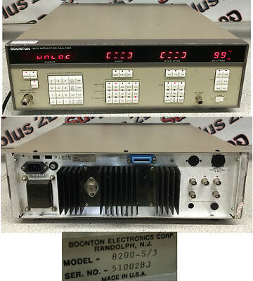 Boonton 8200 Modulation Analyzer