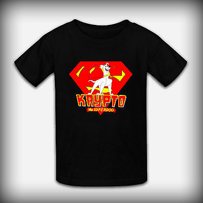 Krypto The SuperDogs New Youth Kids Colors T-Shirt Size XS-XL